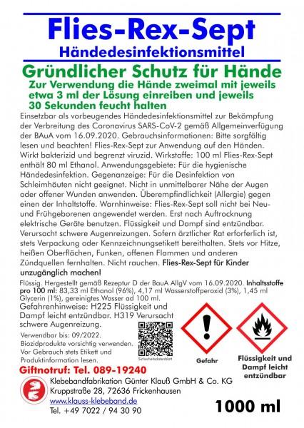 Flies-Rex-Sept Händedesinfektionsmittel